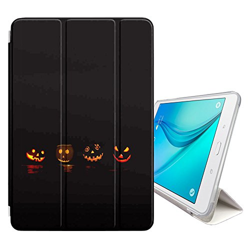 Graphic4You Halloween Allerheiligen Thema Kürbis Design Smart cover Hülle Dünn Tri-Fold Schlank Superleicht Ständer Cover Schutzhülle Tasche für Samsung Galaxy Tab S2 - 8.0