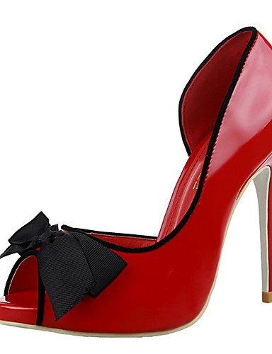 WSS 2016 Chaussures Femme-Extérieure / Bureau & Travail / Soirée & Evénement-Noir / Rose / Violet / Rouge / Gris / Pêche-Talon Compensé-Talons / peach-us6.5-7 / eu37 / uk4.5-5 / cn37