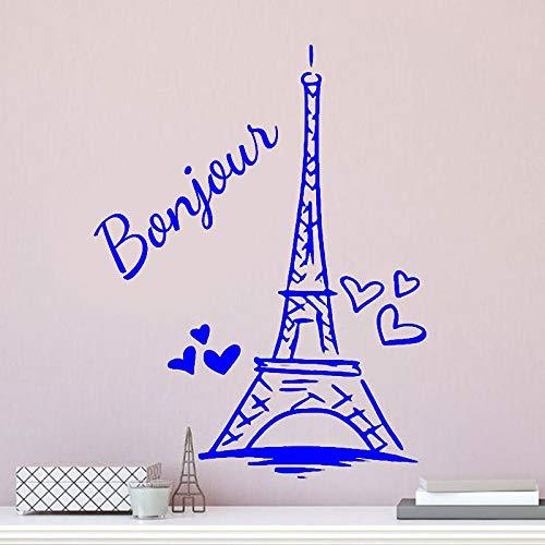Zaosan Paris Tower Wandaufkleber Personalisierte Kind Mädchen Name Vinyl Wohnkultur -