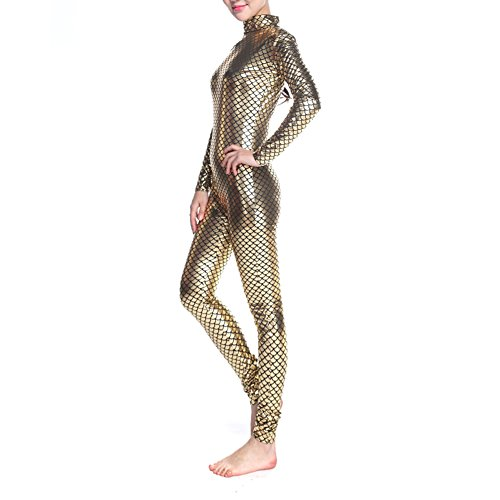 ard Body Dancewear, Fisch Waage Meerjungfrau Kostüm Leggings, Gold, PUKH-DK31136_GOLDEN-M (Halloween-kostüm-ideen In Gold-leggings)