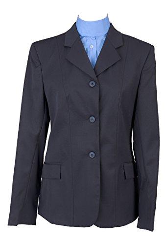 Devon-Aire Women's Nouvelle Stretch Wool Show Coat, Navy, Size 10
