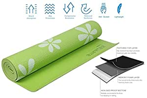 Strauss Yoga Mat, 6mm (Green)