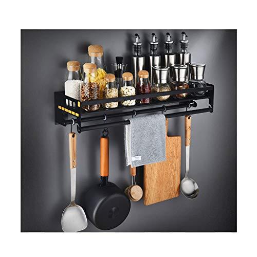 lstahl Mikrowelle Regal Wandhalterung Küchenregal Ofen Rack Lagerung Lagerregal Regal (Color : Black) ()