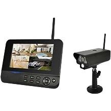 COMAG Digitales Kamera Funk-Überwachungs-Set Überwachungskamera Videoüberwachung mit IP Funktion über Smartphone App (inkl. 7 Zoll TFT Monitor, kabellos, Nachtsicht (Infrarotkamera), erweiterbar bis zu 4 Kameras, bis zu 300 m, Aufnahmefunktion, SD-Kartenslot bis 32GB, USB 2.0 für externe Festplatte bis 1TB)