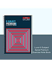 Luxor Spiral Hard Bound Note Book 6SUB,300PG,21*29.7 CUBES
