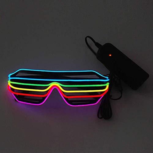 y Leuchtend Brille Einstellbar EL Wire LED Verschluss Schatten Sonnenbrille mit Schaltersteuerung ()