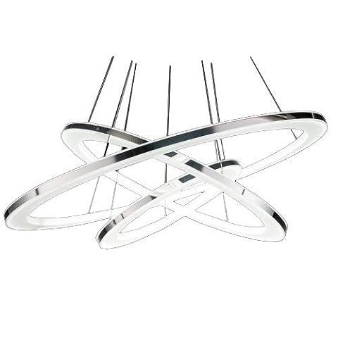 lumière pendentif design moderne a conduit vivre trois anneaux blanc chaud