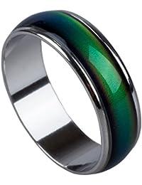 SODIAL(R) Emocion sentimiento anillo de color cambiante de la aleacion animo tamano ee