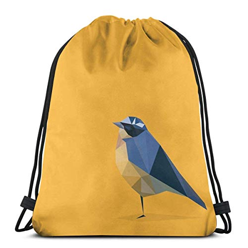 Cap pillow Bird Drawstring Backpack Bag Lightweight Gym Travel Yoga Casual Snackpack Shoulder Bag for Hiking Swimming Beach -