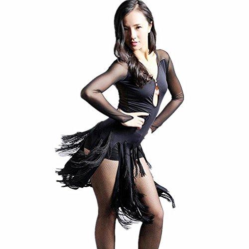 ss Su Bing Latein Tanzkleid , Black , S (Die Weiblichen Erwachsenen Kostüme)
