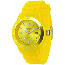 Madison New York Unisex Quartz Watch Analogue Display and Silicone Strap SU4167J