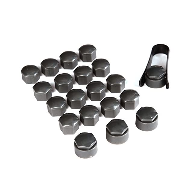 protection de moyeu automatique /écrou 17mm roue /Écrou de roue couvercle de protection anti-vol Noir 20pcs