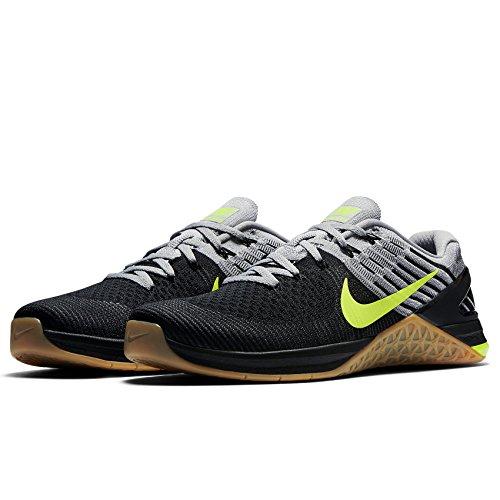 Nike - Metcon Dsx Chaussures Pour Homme, En Tissu Maille Grise, Gris / Gris-noir Wolf Grey / Volt-loup Grey-black