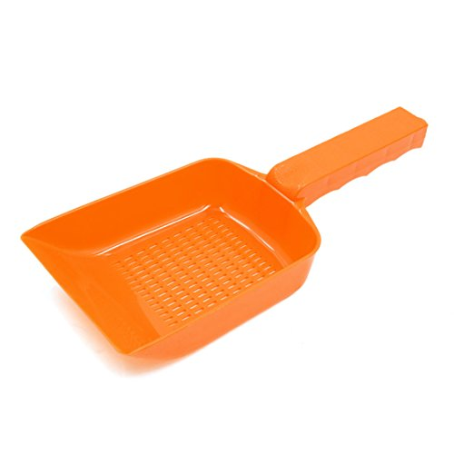 sourcingmap® Orange Kunststoff Sand Kies Reinigung Schaufel Aquarium Zubehör Werkzeug