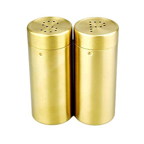 """2pcs / a Set Gold\""""SP\"""" Edelstahl Gewürzdose Condiment Set - Best Kupfer Edelstahl Mühle für Home Chef, handliche Magnetdeckel, Pfefferstreuer"""