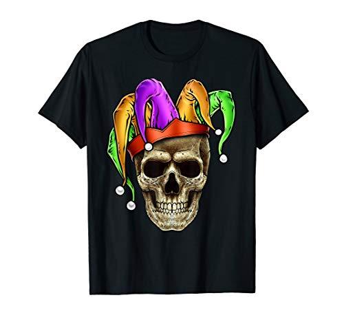 Schadel-Gesichts-Karneval-Spassvogel TShirt Joker - New Orleans Karneval Kostüm