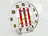 SUNDERLAND FC FOOTBALL TABLE CLOCK - ANY NAME & NUMBER, YOU CHOOSE - BRAND NEW ACRYLIC SHIRT DESIGN
