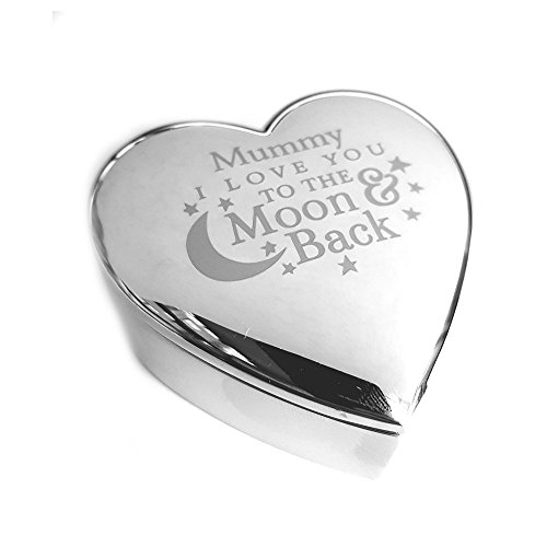 Chris Bag of Goodies 'I Love You To The Moon And Back, Sterling-Silber, Schmuck, Geschenke, für Sie, Geburtstag, Muttertag Geschenke von Sohn oder Tochter