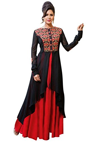 Sunshine Fashion Black Color Latest Embroidery New Collection 2018 Gown For Women...