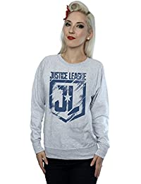DC Comics Women's Justice League Movie Indigo Logo Sweatshirt