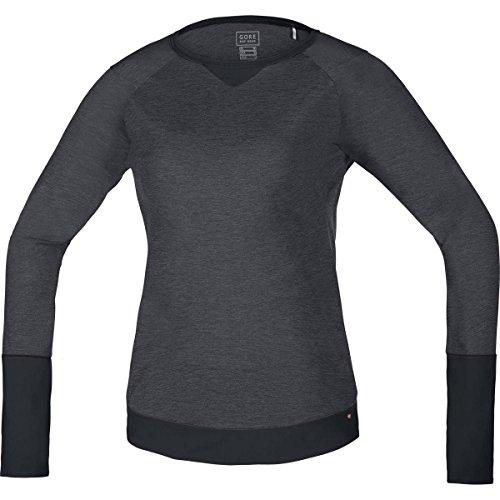 GORE BIKE WEAR Damen Mountainbike-Langarmshirt Jersey, GORE Selected Fabrics, POWER TRAIL LADY, Größe 36, Braun/Schwarz, SLFLOW - Gore Langarm Trikot