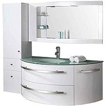 ro srl meuble salle de bain modle ambassador 120 cm blanc colonne vasque