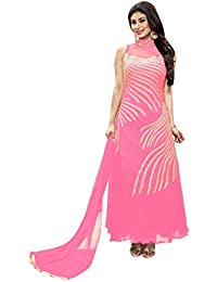 Li Te Ra Pink Embroidered Party Wear Gown With Dupatta For Women (10064)