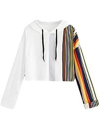 Beautyjourney Pulls Mi Saison Femme,Sweatshirt Manches Courtes Korean  Fashion Hoodie Vikings Hoodie Long Slogan a4ad312eb0c