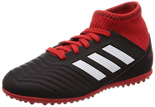 Adidas Predator Tango 18.3 TF J, Zapatillas de Fútbol Unisex Niños, Negro Cblack/Ftwwht/Red, 38 EU