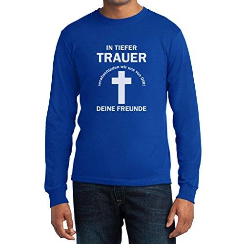 JGA in tiefer trauer Langarm T-Shirt Blau