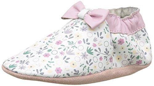 Robeez Tender Flower, Chaussures de Naissance Bébé Fille Blanc (Blanc)