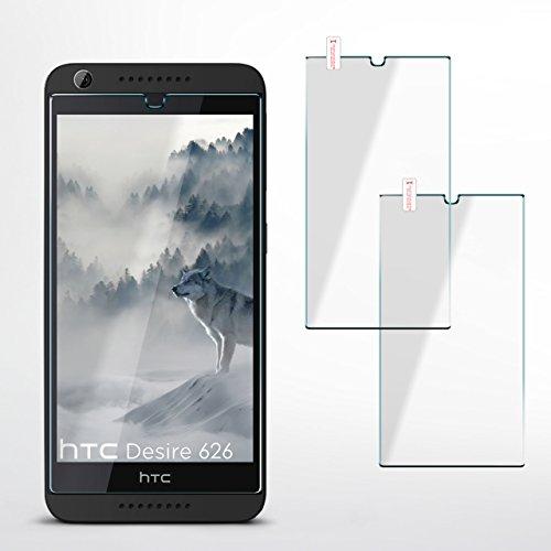 MoEx 2X OneFlow 9H Panzerfolie für HTC Desire 626G | Panzerglas Display Glasfolie [Tempered Glass] Screen Protector Glas Displayschutz-Folie für HTC Desire 626G/626 Schutzfolie