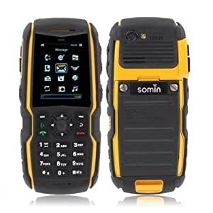 Waterproof and Dustproof Mobile Phone Dual Sim with Flashlight Bluetooth FM S850 Yellow