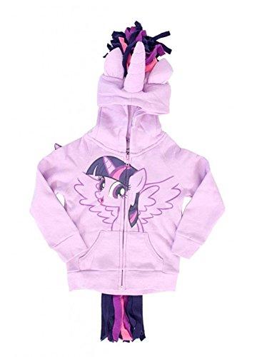 My Little Pony Twilight Sparkle Costume Hoodie (Girls (Little Pie My Hoodie Pinkie Pony)