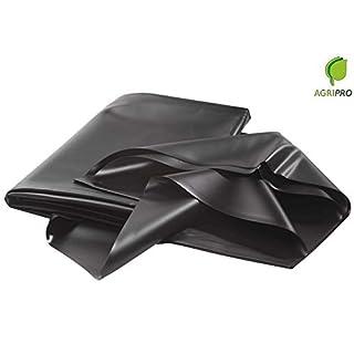 AGRIPRO Duschtuch Puro PVC schwarz ungiftig für Teich und Zinn MT 6x 6