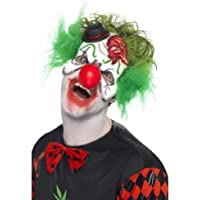 Smiffy's Clown Mask Latex with Hat and Hair
