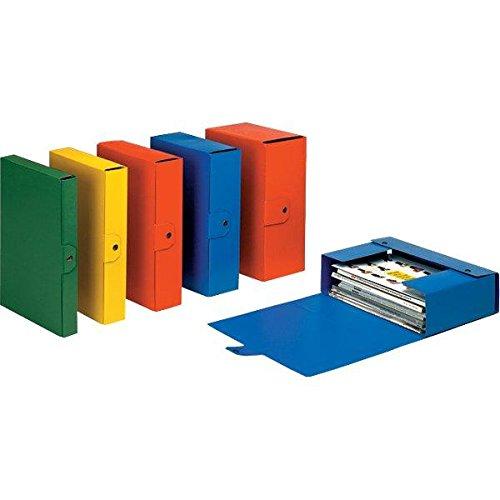 Esselte cartella a scatola per l'archiviazione di documenti a lungo termine, a4, dorso 15 cm, blu, eurobox, 390335050
