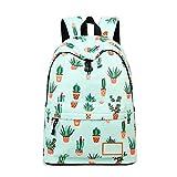 RMXMY Mode Lässig Rucksack Trendy Einfache Schulrucksack Frauen Druck Rucksack Brieftasche Kaktus Persönlichkeit Kreative Rucksack Reisetasche