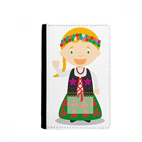 beatChong Lächeln Blond Polen Cartoon-Pass-Halter Travel Wallet Abdeckungs-Fall Karten-Geldbeutel - Blonde Abdeckung
