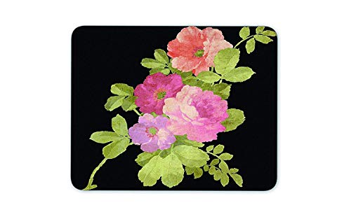 Drempad Gaming Mauspads Custom, Black Tricolor Flower Mousepad Mouse Pad Great Gift Idea