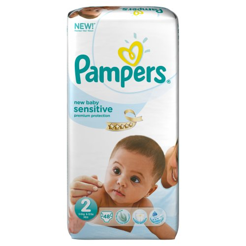 Pampers New Baby Sensitive 48 Couches 3-6 kg Taille 2 Mini Géant