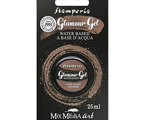 Glamour Gel Dunkel Braun Glitzernden 25ml, Stamperia, Patina, Farben, Spezial -, Hobby-Farben, Decoupage