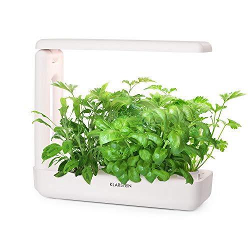 Klarstein GrowIt Cuisine • Smart Indoor Garden Anzuchtsystem • Hydroponik • bis zu 12 Pflanzen in 25-40 Tagen • automatisches LED-Beleuchtungs- und Bewässerungssystem • 2 L Wassertank • Grow It Smart! (Kräuter-garten)