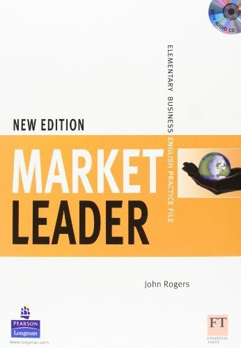 Market Leader 1 New Edition: Elementary Business, Practice File Pack (Book and Audio CD) 1st edition by Cotton, David, Falvey, David, Kent, Simon (2008) Paperback