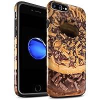 STUFF4 Lucidare Antiurto Custodia/Cover/Caso/Cassa del Telefono per Apple iPhone 7 Plus / Caramella Mou / (Finiture In Pelle Caramella)