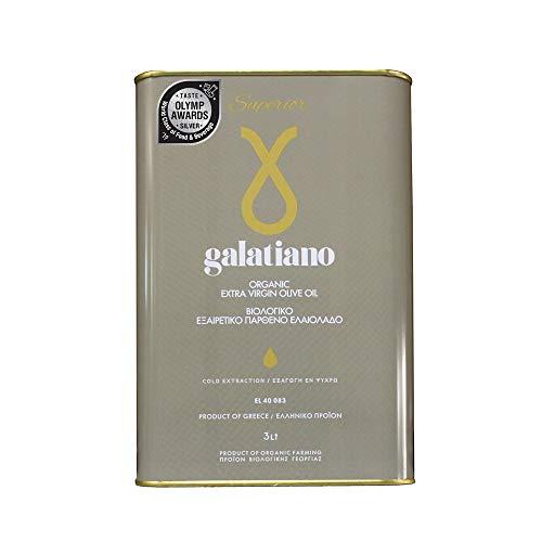 Galatiano Superior Bio Extra Natives Olivenöl Kalt extrahiert, 3L
