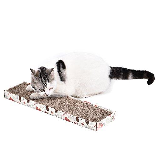 OHANA Kratzbett Interaktiv Katzenspielzeug Kratzmatte kratzmöbel Kratzbrett für Katzen mit...