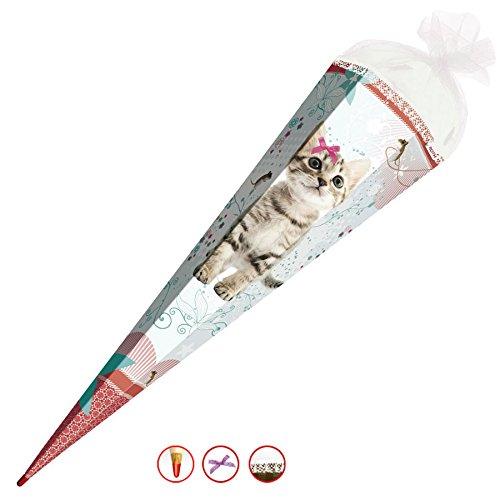 Roth Schultüte Kätzchen Katze Zuckertüte Schulanfang Einschulung Schule Kinder: Größe: 85 cm mit Schleife