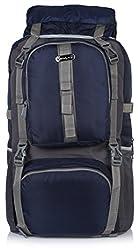 Bag-Age Polyester 60Litres Hiking & Trek Rucksack (Dark Blue)