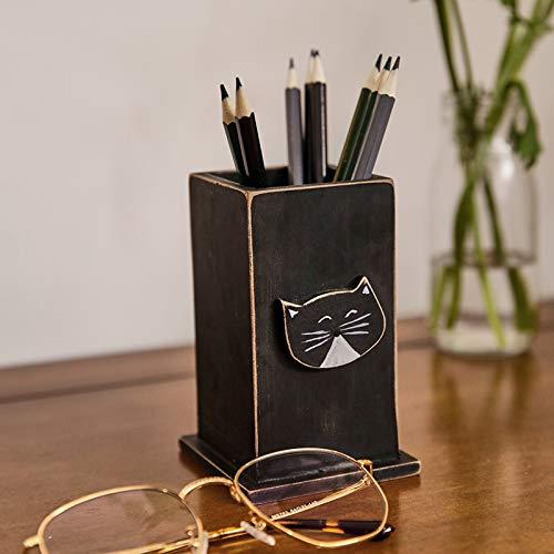 ive Katze niedlich Stifthalter Desktop Dekoration Büro Dekorationen kleine Aufbewahrungsbox Grundschule Neujahr Geschenk ()